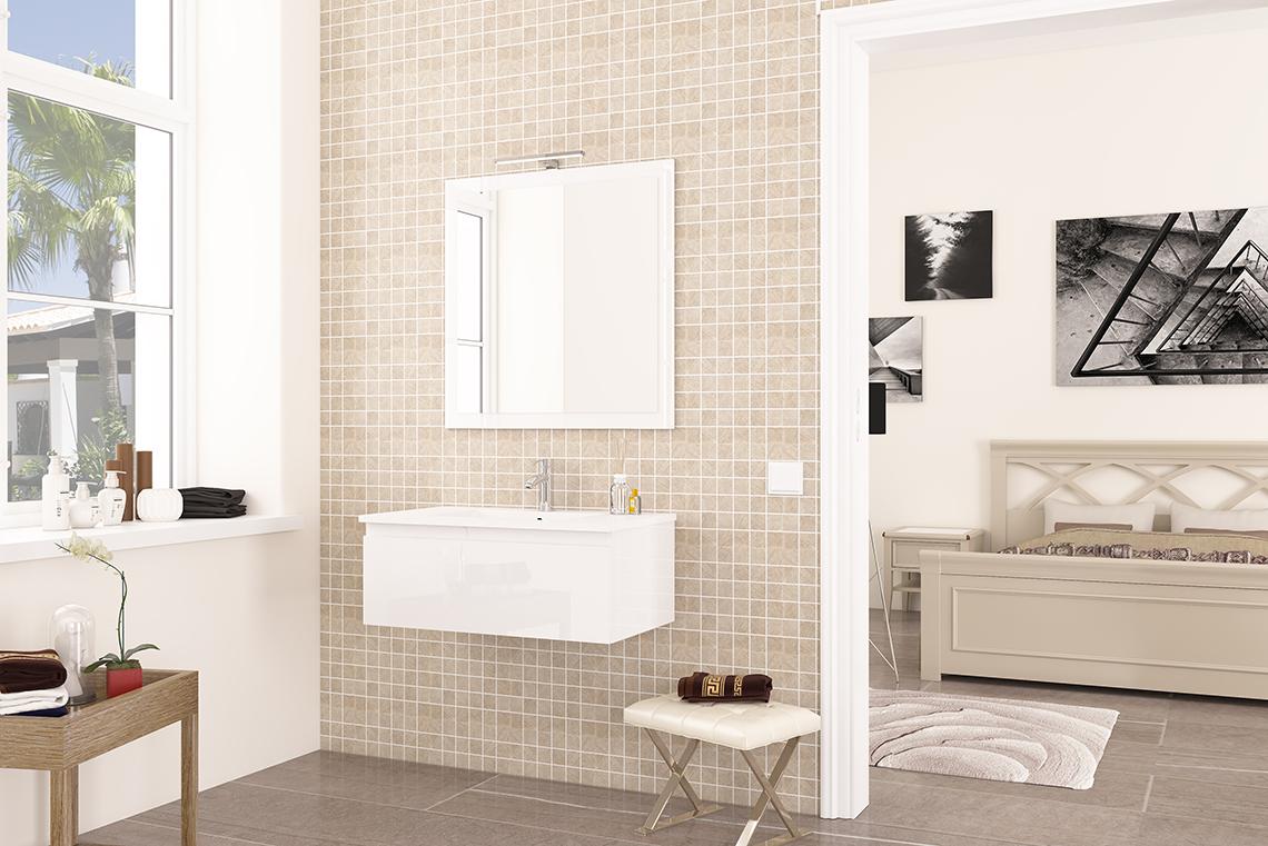 lara-fabricante-muebles-baño-viberco-colgar-blanco | Viberco